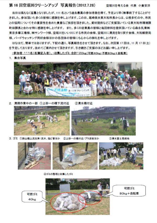 20120802 空堀川清掃-報告