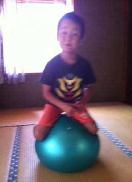 20120908nobuバランスボール