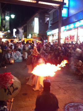 20120908野沢温泉祭天狗2