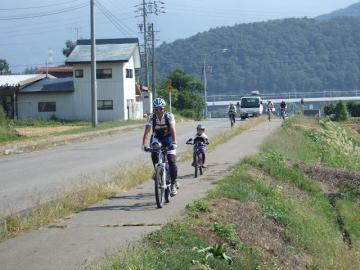 20120930MTBトレイルツアー長谷川ガイド&nobu