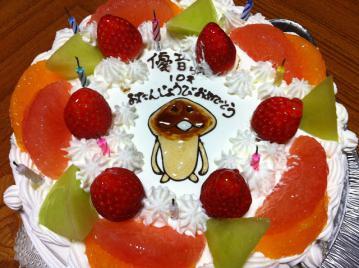 20121206誕生日ケーキ