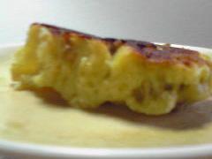バナナのアップサイドケーキ(断面)