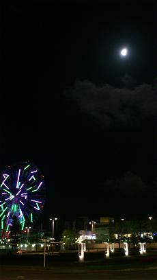 お台場の月