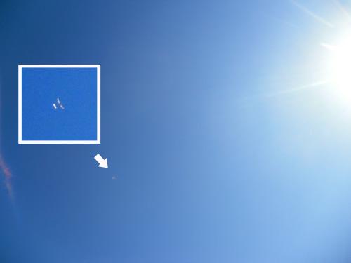 ケントウン10中空翼飛行中。