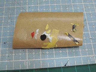 使用後のマスキングテープ