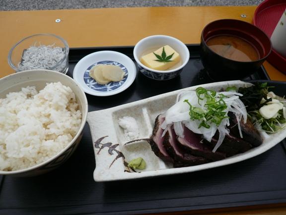 鰹タタキ定食 1200円