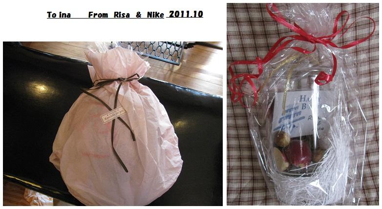 20111012nikeちゃん&いちごちゃんからの誕プレ