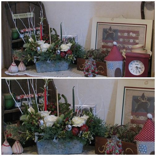 20111130soranihanaさん指導のクリスマスアレンジ・BHにて