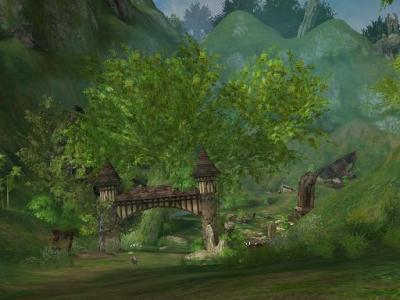 旧話せる島の村の門