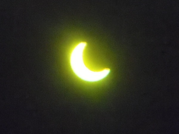 7時19分日食用双眼鏡