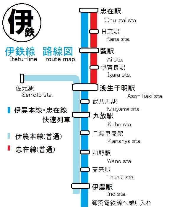 伊鉄路線図