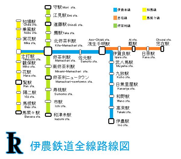 伊鉄第2次改正後路線図(全線版)