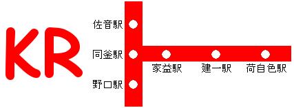 建一電鉄路線図3