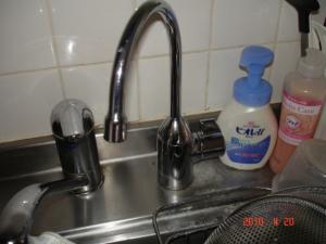 浄水器水栓交換取付後