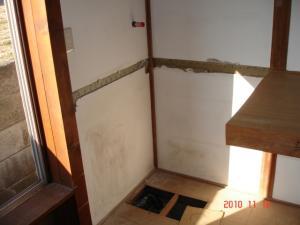 解体、給水・排水・電気配線工事