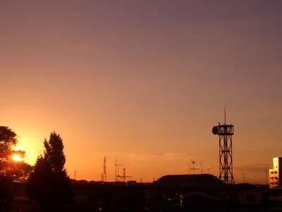 2010年10月10日の夕陽