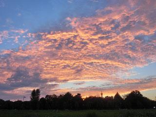 立川で撮影した夕焼け