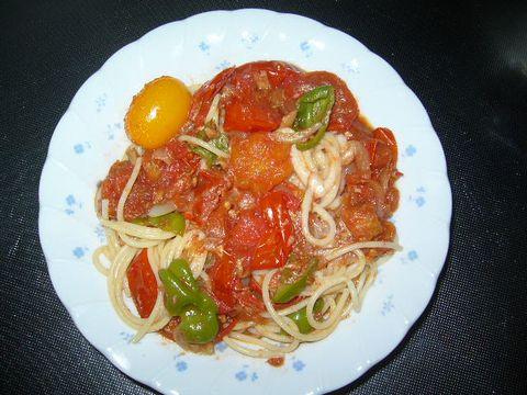 2011年8月20日イタリアントマトのパスタ