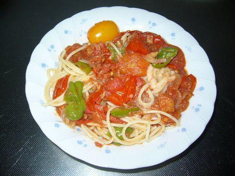 2011年8月20日イタリアントマトのパスタ (2)