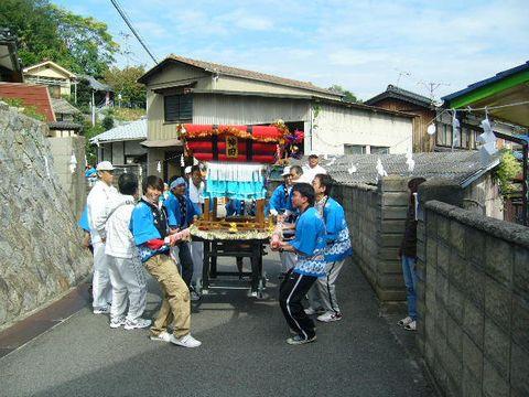 2012年10月14日三庄秋祭り