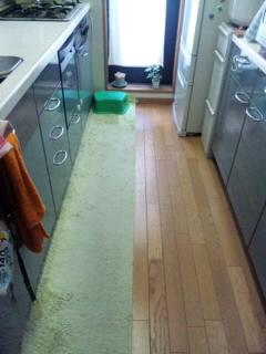 キッチン床○