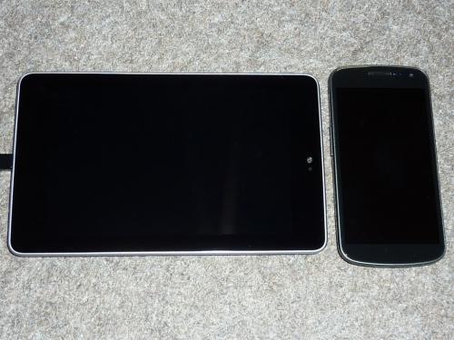 Nexus 7、Galaxy Nexusとの大きさ比較