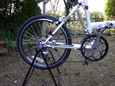 自転車スタンドにセッティング