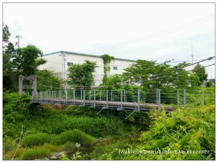 好間川つり橋渡ろうハイキング4
