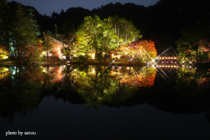 国宝白水阿弥陀堂ライトアップ2