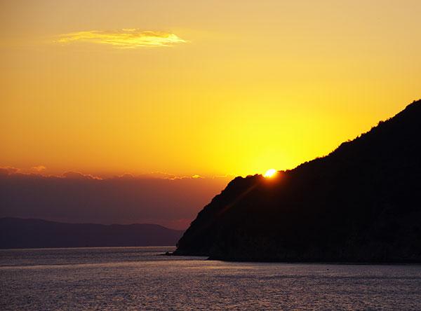 小豆島の落日