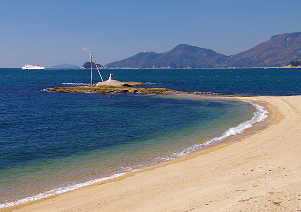 小豆島戸形岬の浜