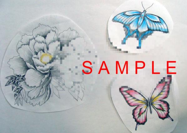 刺青 牡丹と蝶