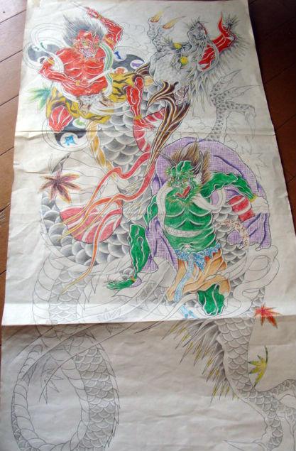 昇龍と風神雷神