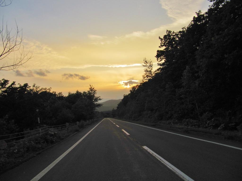 鹿追の直線道路 (1)