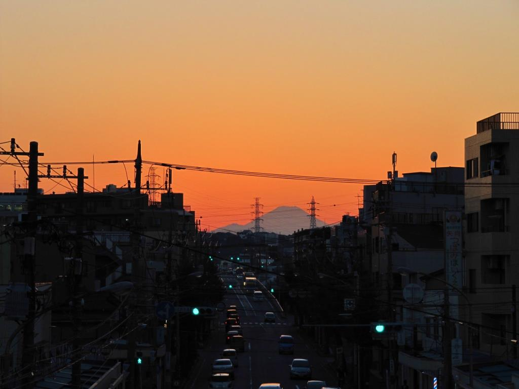 川崎から富士山