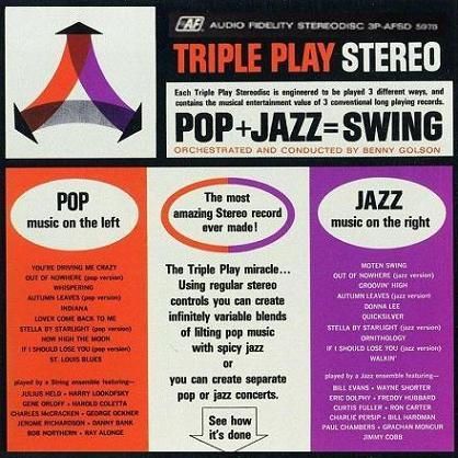 Triple Play Pop+Jazz=Swing Audio Fidelity AFSD 5978