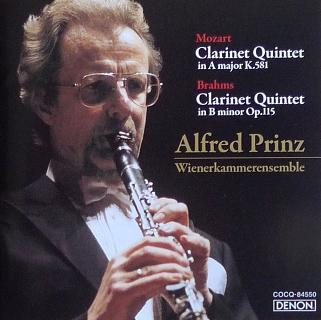 Brahms, Mozart Clarinet Quintet Alfred Prinz
