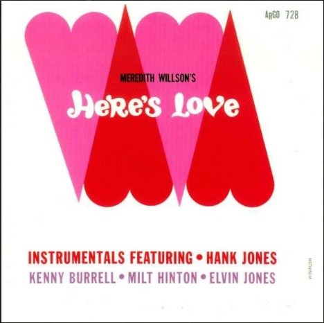 Hank Jones Heres Love Argo LP 728