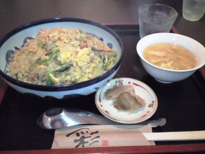 鶏豚肉の炒飯①