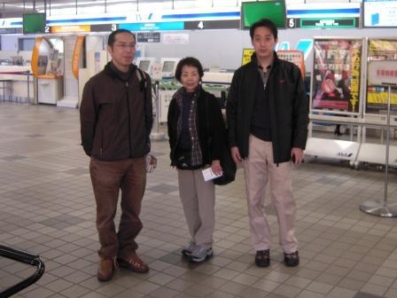 岡山空港にて(出発時)