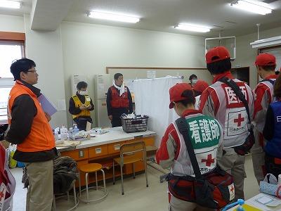 湊小学校での朝のミーティング