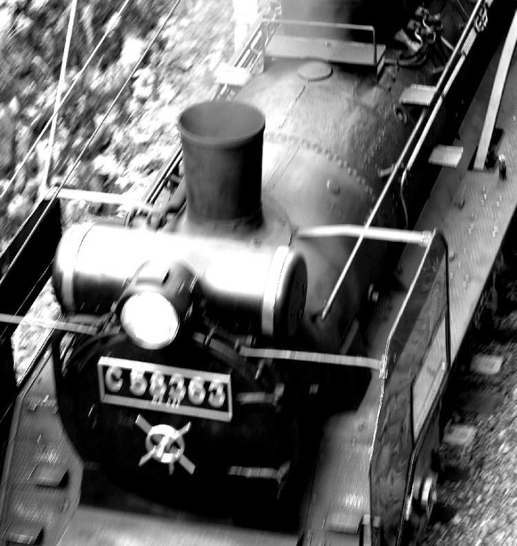 秩父 機関車 (12) モノクロ