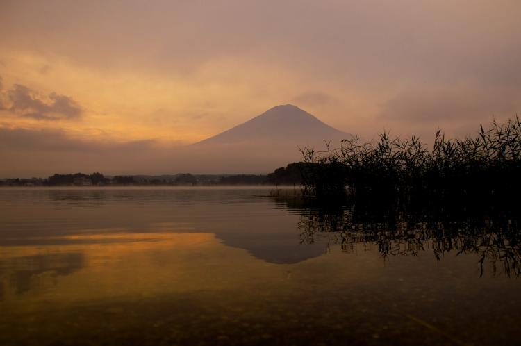富士 河口湖 朝焼け+1