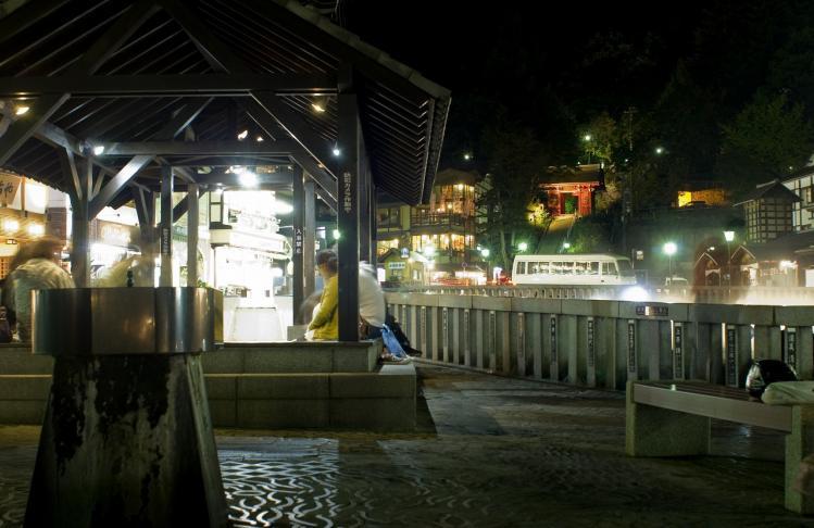草津温泉 夜