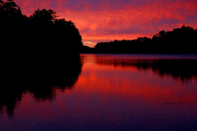 2010 湯の湖 朝焼け4
