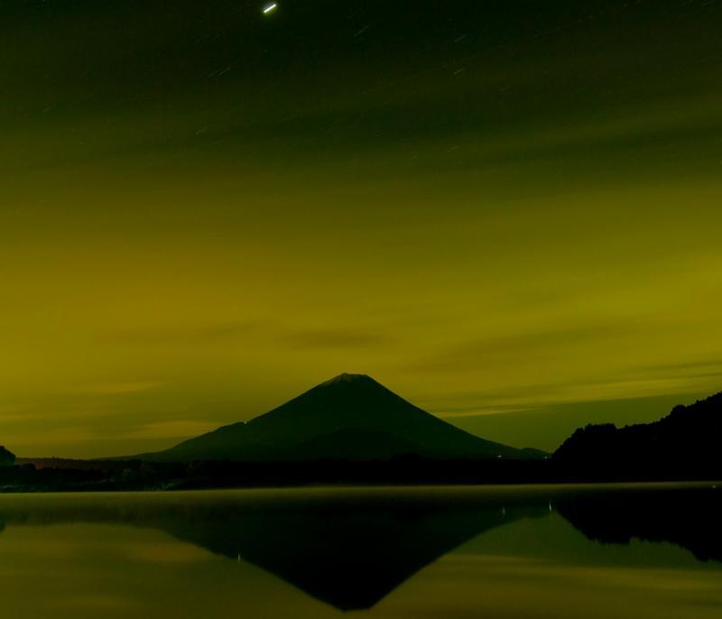 精進湖 日没の精進湖