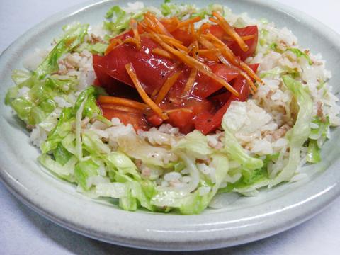 ご飯サラダ