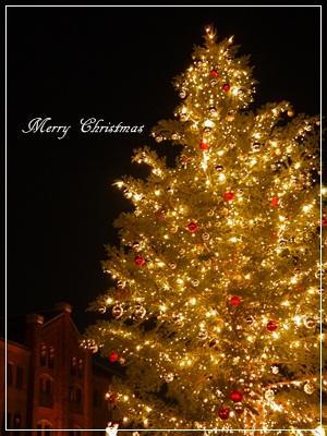 クリスマスツリー赤レンガ