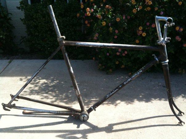 schwinn frame- rusted