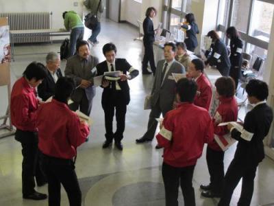 試験当日のミーティング